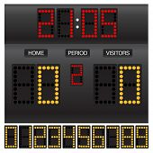 stock photo of diodes  - Match score board with timer - JPG