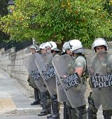 ATHENS, GREECE - JUNE 15: General strike against new $40.36 billion austerity program of tax hikes a