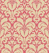 stock photo of french curves  - Seamless baroque style damask background - JPG