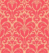 foto of french curves  - Seamless baroque style damask background - JPG