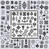 image of adornments  - 120 retro elements - JPG