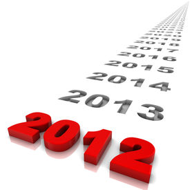stock photo of happy new year 2013  - New year 2012 and the years ahead - JPG
