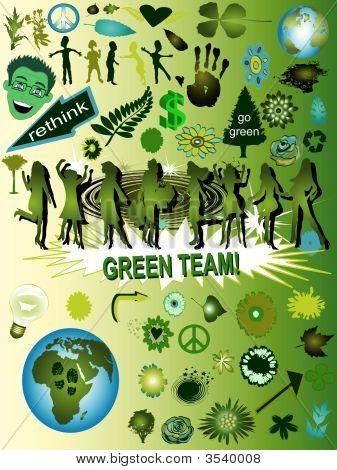 Vector Green Design Elements