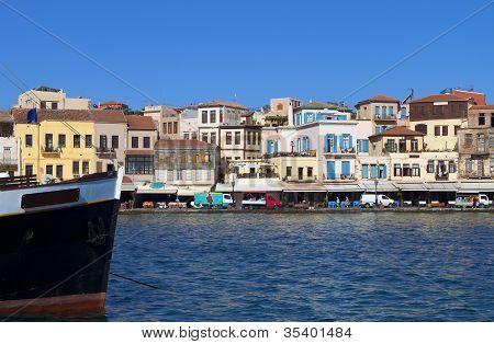 Chania city in Crete island, Greece