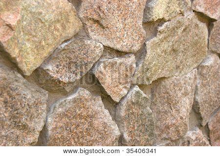 fieldstone wall under the sun