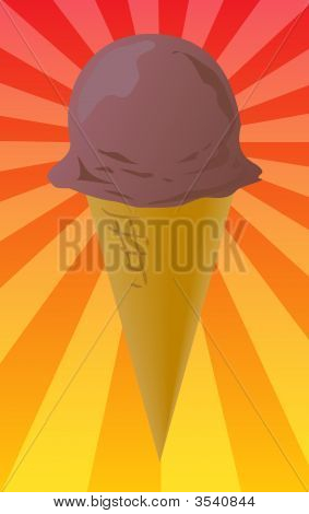 Ice Cream Cone Illustration