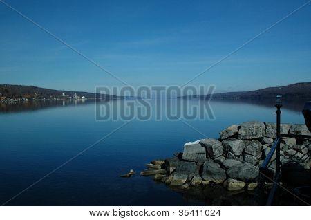blue morning on Seneca lake