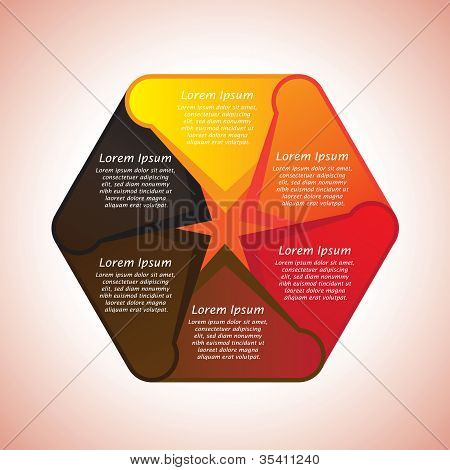 Abstract, Colorful And Creative Hexagonal Banner In Shades Of Red, Orange, Yellow, Brown And Black W