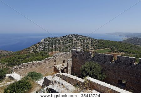 Kritinia Castle, Rhodes, Greece, Europe