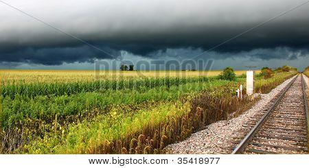 Gewitter im ländlichen illinois