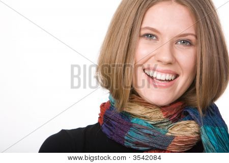 Woman With Scarf