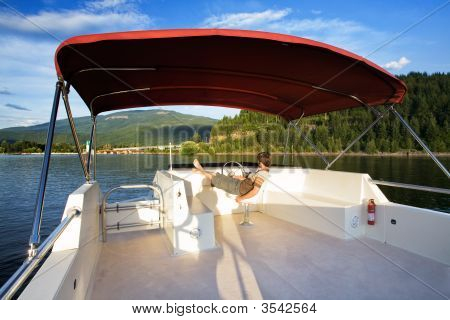 House Boat On Lake