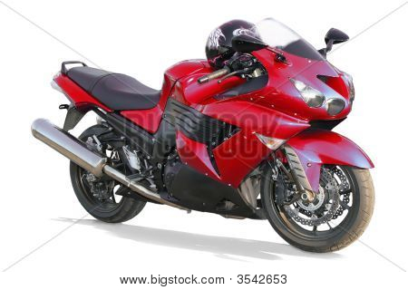 Motorcycle On A White Background.