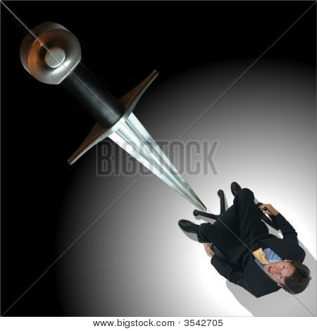 Sword of Damacles (Damocles) / Businessman in Trouble : Bigstock