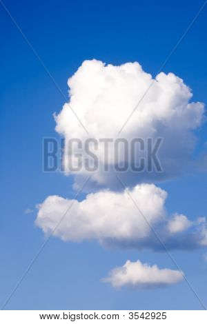 Three Fluffy Clouds poster