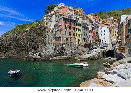 Harbor of Riomaggiore, Cinque Terre, Italy