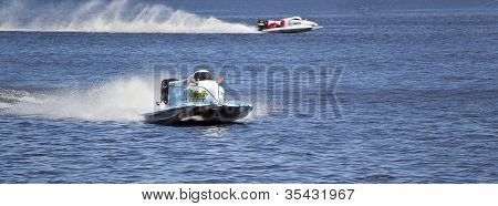 Vyshgorod, Ukraine - July 20 : Powerboat Team Of Waircom F1 Fast Speed, Pilot Valerio Lagiannella .