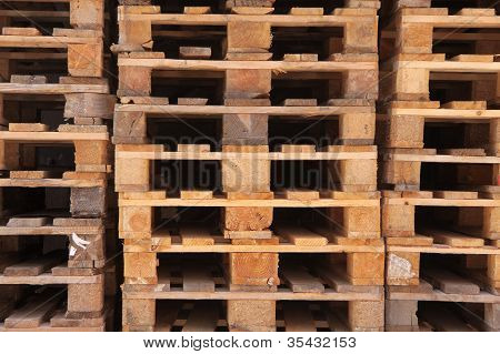 Stacked Euro Pallets