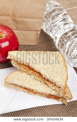 Peanut Butter And Jelly Sack Lunch