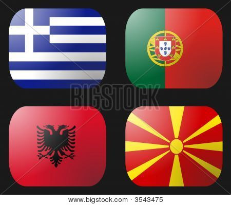 Portugal Greece Albania Macedonia Flag
