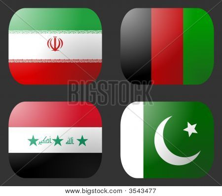 Iran Iraq Afghanistan Pakistan Flag