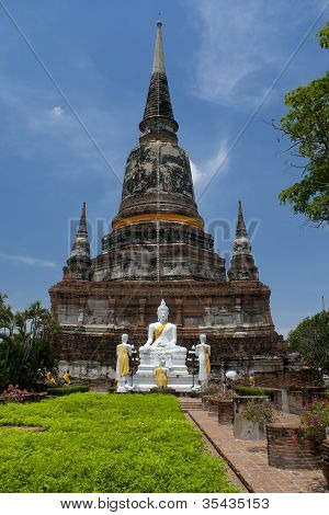 The Buddha status of wat yaichaimongkon at ayuttaya province,Thailand