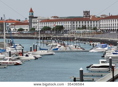 Harbor At Ponta Delgada