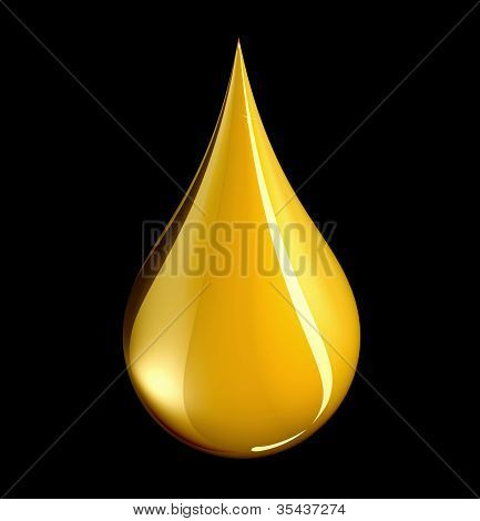 Tear Shaped Gold Drop