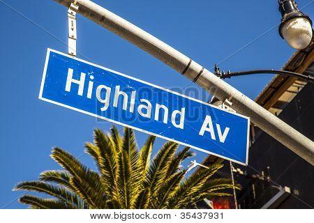 Street Sign Highland Av