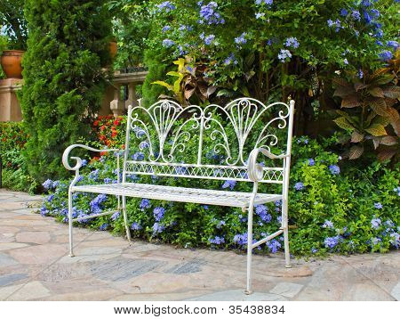 Iron Bench In The Park