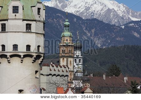 Old Mint Tower Hall in Tirol, Austria