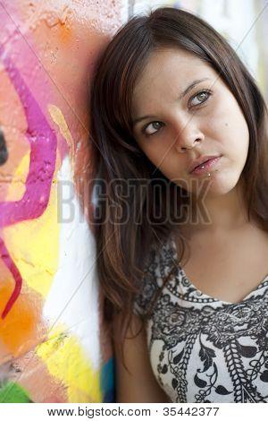 Girl Thinking Of Future
