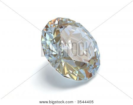 Diamond Isolated On White Background.