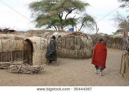 Masai, Massai, Olduvai, Village, Tanzania