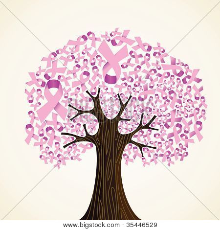 Breast Cancer Ribbon Tree