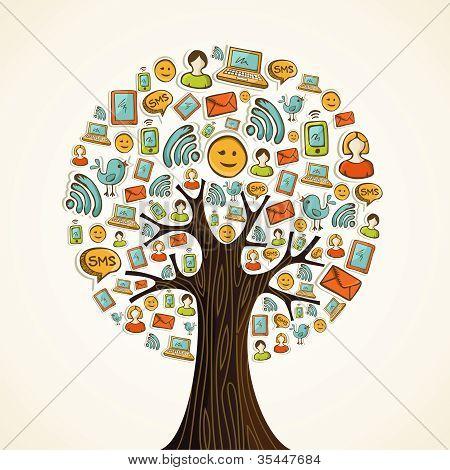 Social-Media-Ikonen-Baum