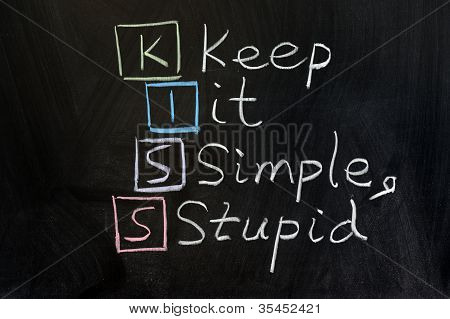 Kiss, Keep It Simple, Stupid
