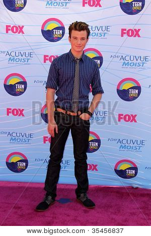 LOS ANGELES - JUL 22:  Chris Colfer arriving at the 2012 Teen Choice Awards at Gibson Ampitheatre on July 22, 2012 in Los Angeles, CA