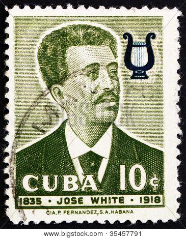 Postage stamp Cuba 1958 Jose White, Musician