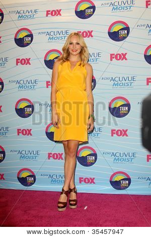 LOS ANGELES - JUL 22:  Candice Accola in the Press Room of the 2012 Teen Choice Awards at Gibson Ampitheatre on July 22, 2012 in Los Angeles, CA