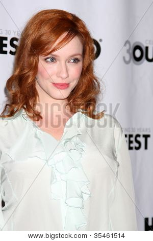 LOS ANGELES - JUL 22:  Christina Hendricks arrives at the 2012 Outfest Closing Night Gala of