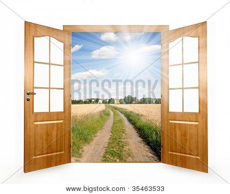 Öffnen Sie die Tür zur Art und Weise das Feld