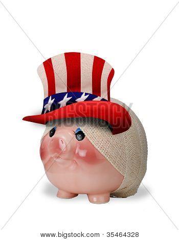 Piggy Bank gewond.