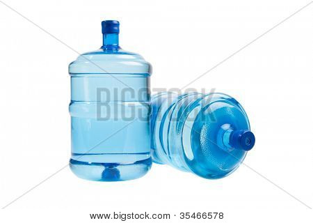 big bottles of water for delivery, isolated on white