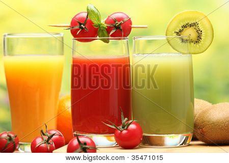 Summer refreshing juice