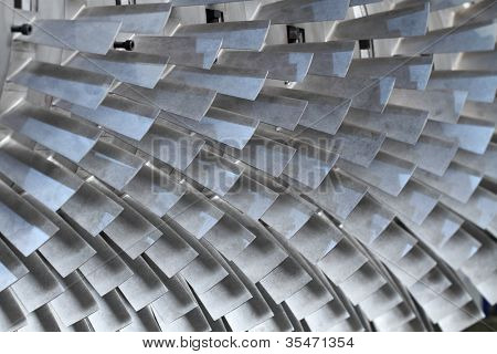 turbine blades texture background