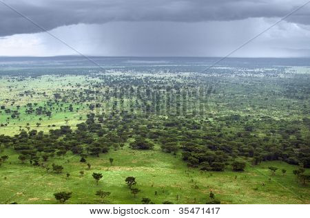 Queen Elizabeth National Park Aerial View