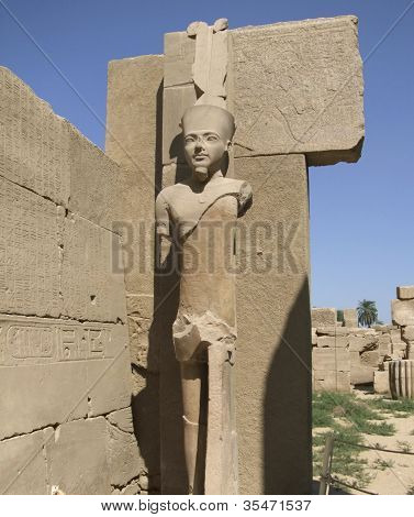 Statue Around Precinct Of Amun-re