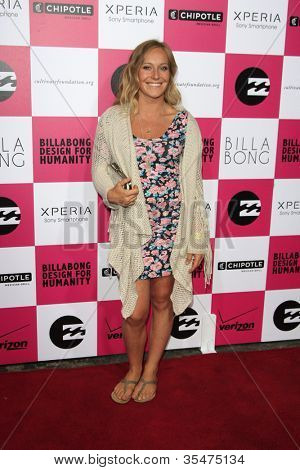 LOS ANGELES - JULY 25: Jamie Anderson at Billabong's 6th Annual Design For Humanity Event at Paramount Studios on July 25, 2012 in Los Angeles, California