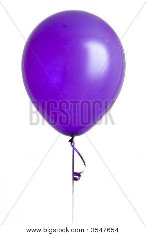 Purple Balloon On White